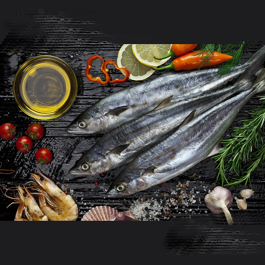 Raw Mackerel With Vegetables and Herbs