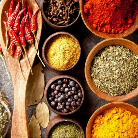 Colorful and Exotic Spices